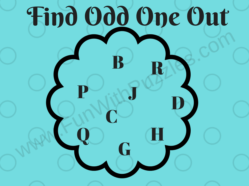 Odd One Out - Fun Letters Quiz for Kids - Fun With Puzzles
