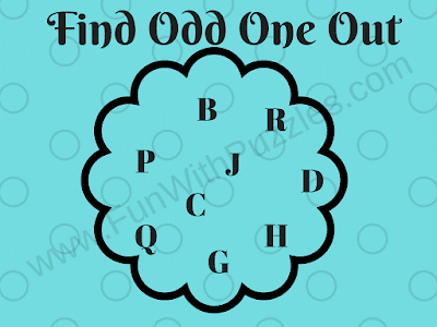 Letters Odd One Out Kids Puzzle
