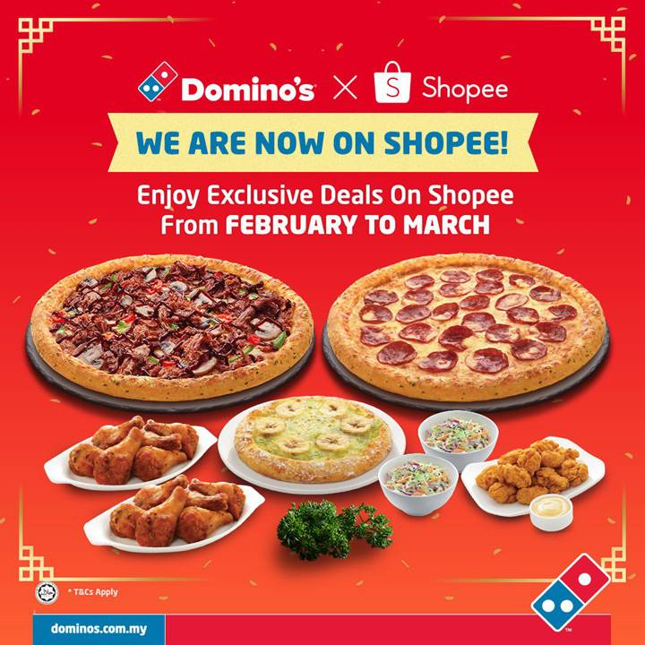 HOT DOMINO'S PIZZA DEALS EXCLUSIVELY ON SHOPEE