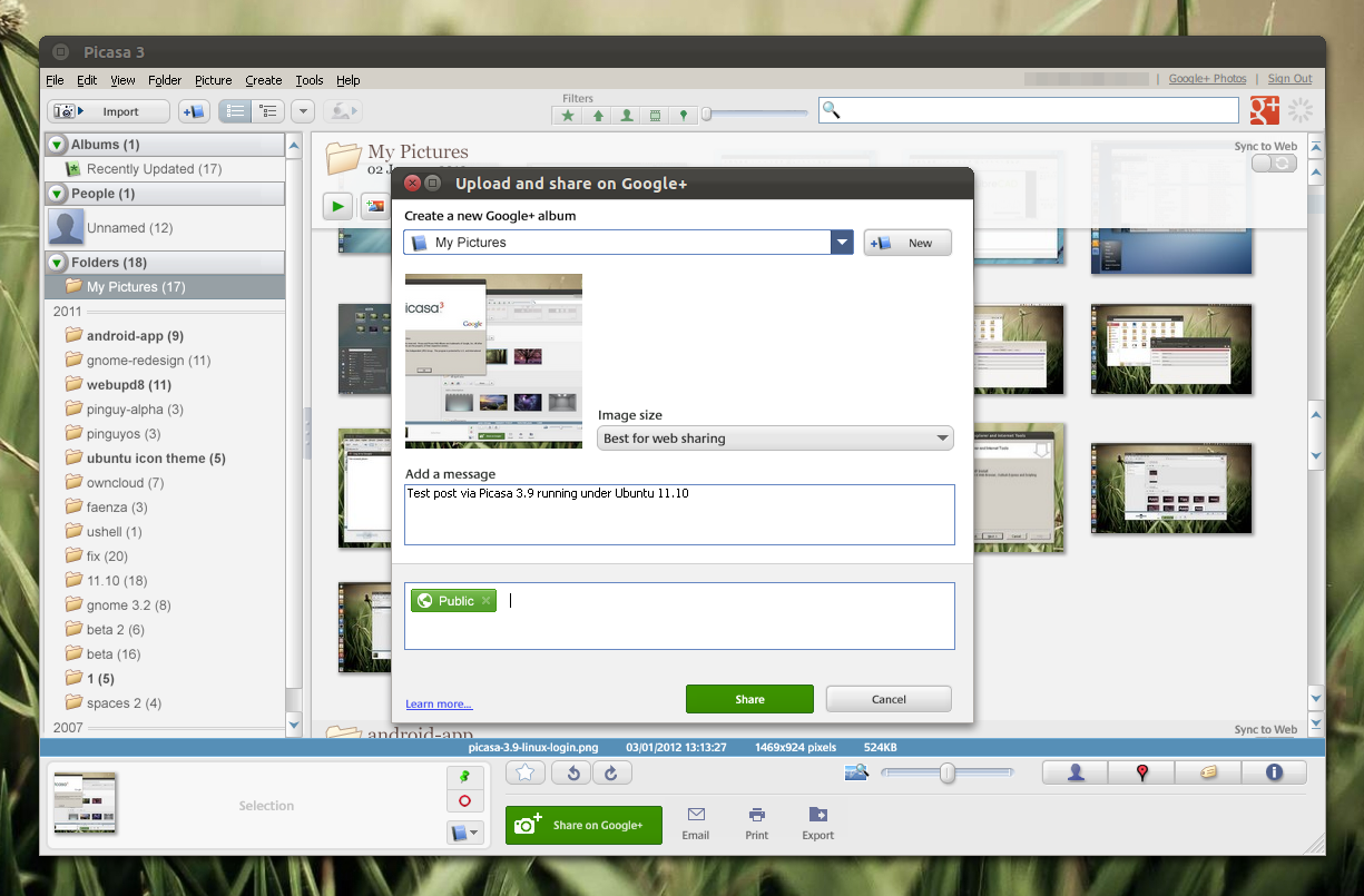 install picasa 3 9 in linux and fix google sign in issue wine