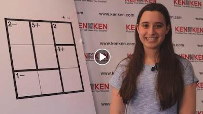 Ellie Grueskin explains how to play a 3x3 KenKen puzzle
