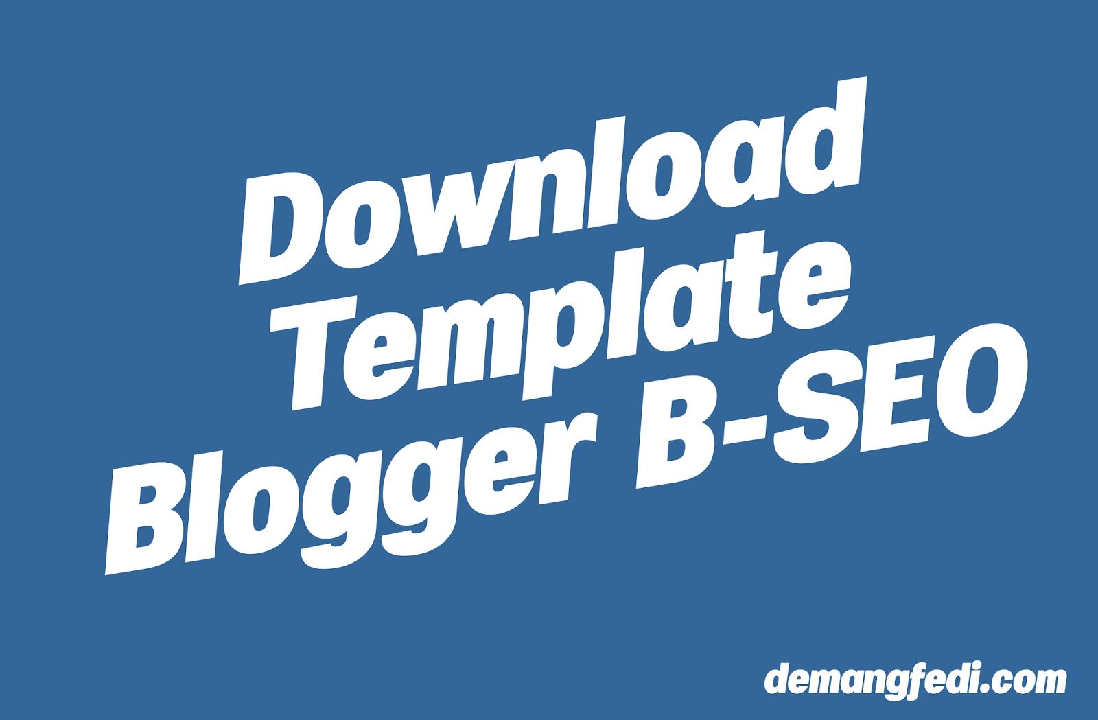 Template SEO Blogspot