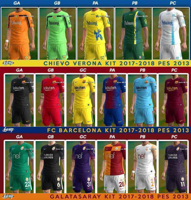 05bb997d12a Update Kits Season 2017-18 (21.08.2017) - PES 2013 - PATCH PES | New ...