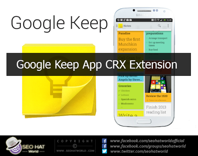Download Google Keep App CRX Extension For Chrome Free