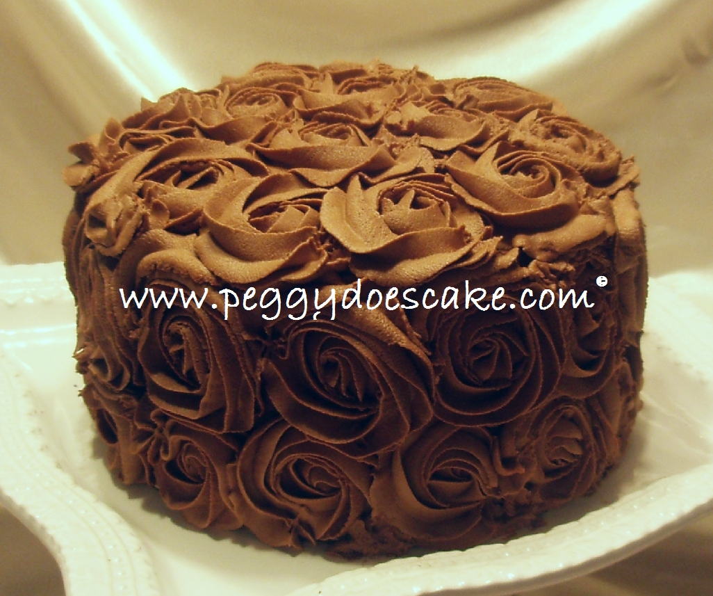 Peggy Does Cake.: Chocolate Roses (click Photos To Enlarge
