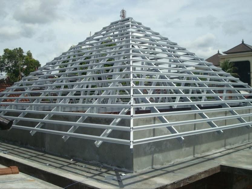 rangka atap baja ringan model limas top cara merangkai paling baru
