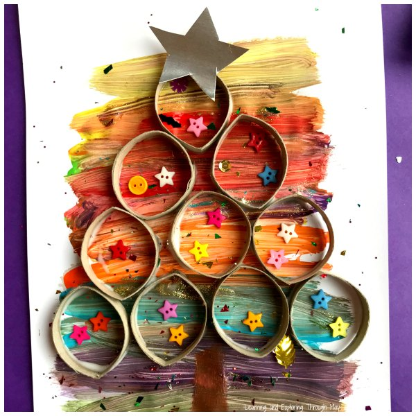 Cardboard Roll Christmas Trees