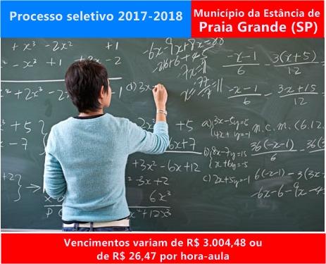 Edital processo seletivo Prefeitura de Praia Grande 2017