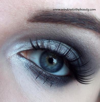 czarno szary makijaz