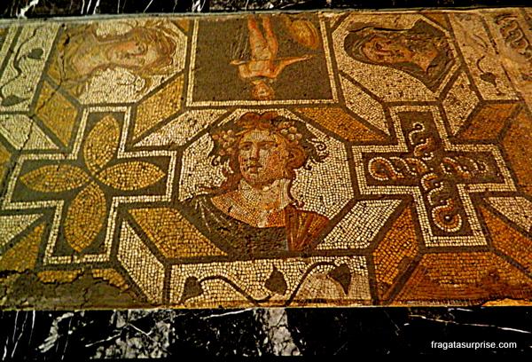 Mosaico romano no Museu Arqueológico de Istambul