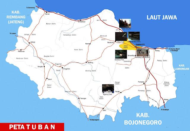 Gambar Peta Tuban Lengkap 20 Kecamatan