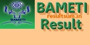 BAMETI Result 2014-2015