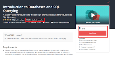 5 Free Database and SQL Query Courses for Programmers to Learn Online