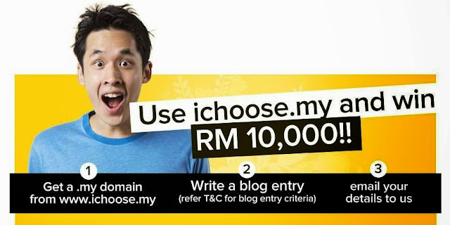 Use iChoose.my and win RM10,000, ichoose.my, blog platform, domain name, blogger, blogspot, wordpress, mynic, malaysia blogger platform, i choose, website