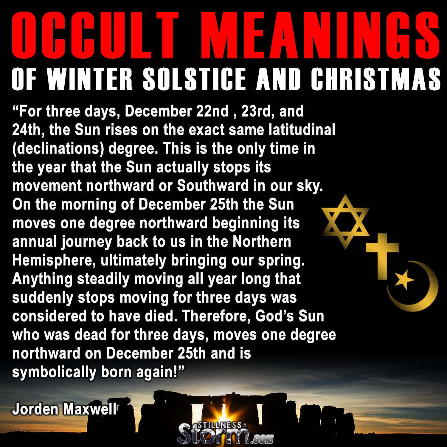 occult meanings of winter solstice and christmas