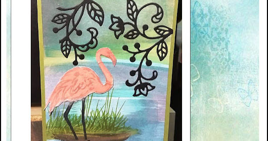11.04.2018...Direct To Paper Technique with Fabulous Flamingo...