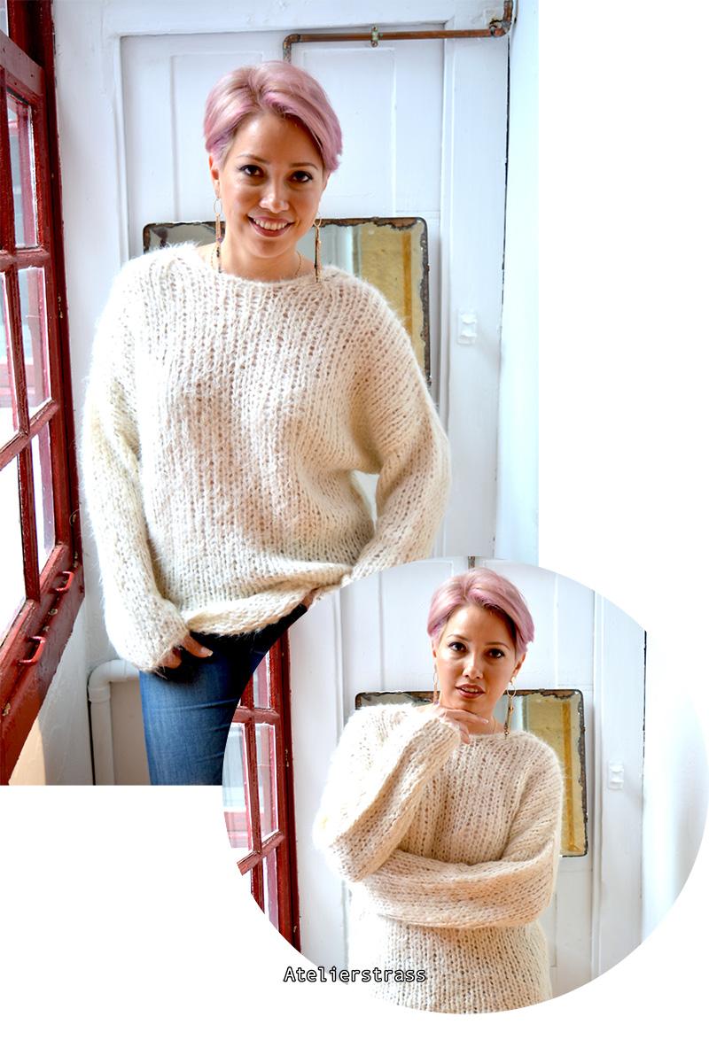 jersey blanco de lana