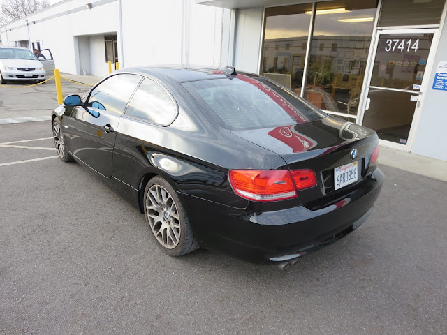 BMW 328i after color change from silver to black.