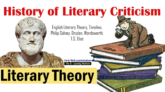 literary criticism, literary theory, english literary theory, ugc net jrf notes, literary movements, history of literary theory, my exam solution, myexamsolution.com