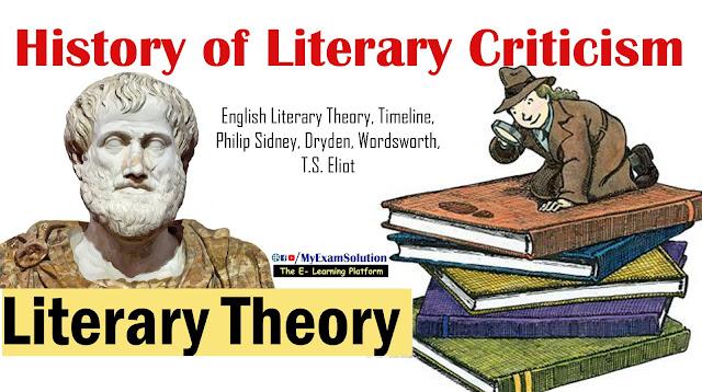 literary criticism, literary theory, english literary theory, ugc net jrf notes, literary movements, history of literary theory, my exam solution, myexamsolution.com