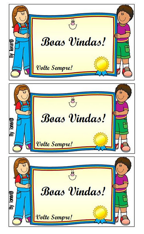 Cartões De Boas Vindas Volta às Aulas Só Escola