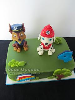 birthday cake chase marshall paw patrol