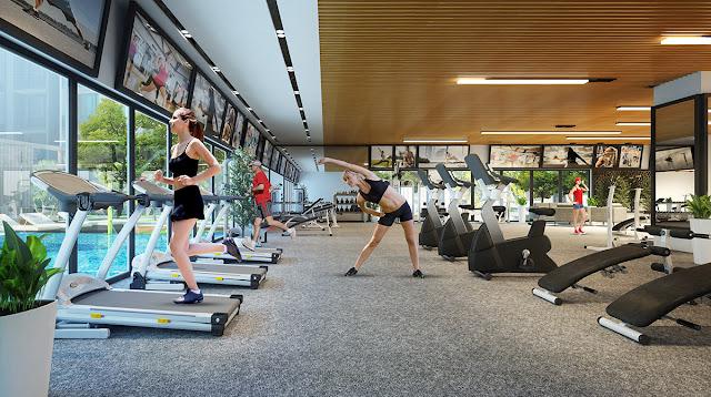 Khu tập Gym tại Lilaha Complex