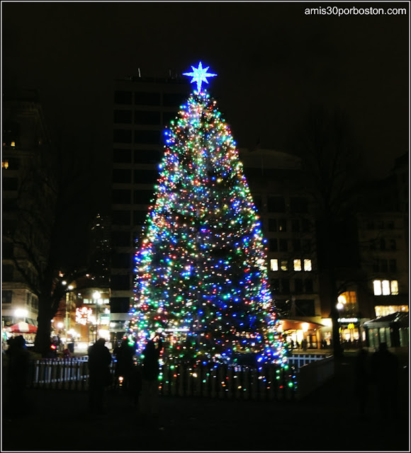 First Night Boston 2016: Árbol de Navidad del Boston Common
