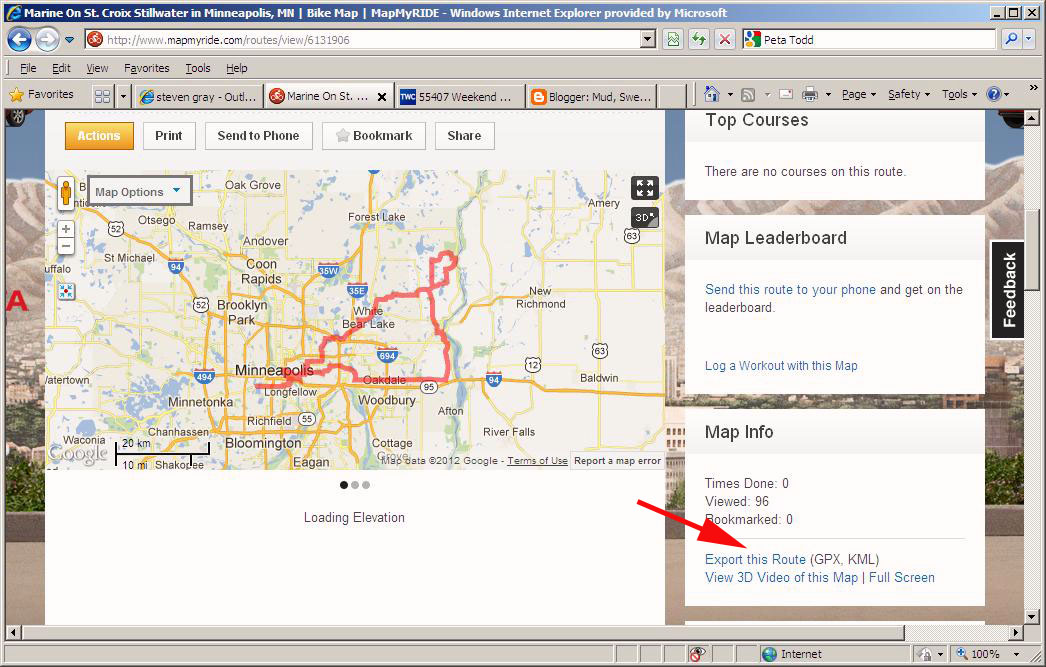 Mud, Sweat and Gears: How to export a map from MapMyRide to