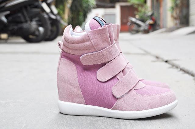 Giày tăng chiều cao nữ wedge sneaker đôi giày hấp dẫn cho bạn nữ mọi thời đại 2