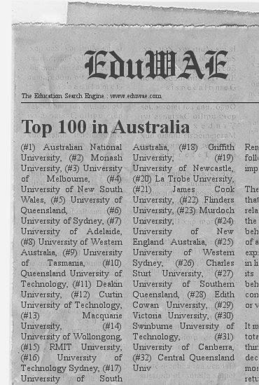 Top 100 Universities in Australia