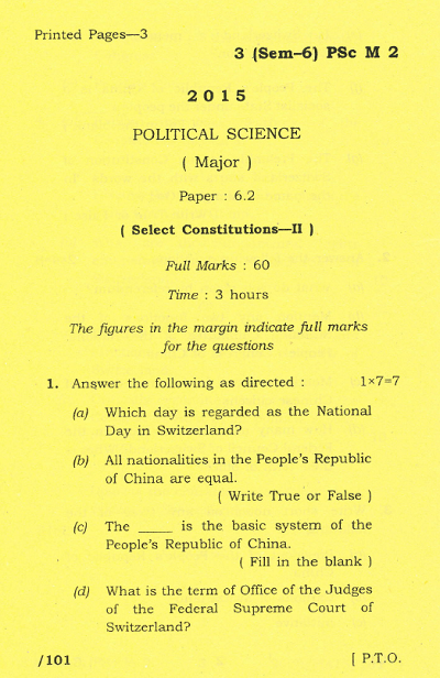 Political Science Essay Question Explainsprophesycf Political Science Essay Question
