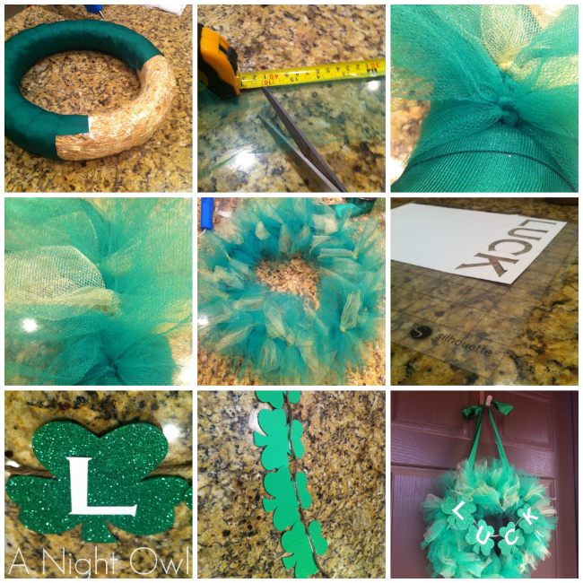 Looking for a fun and festive way to decorate for St. Patrick's Day this year? Check out how to make this easy Tulle St. Patrick's Day Wreath!