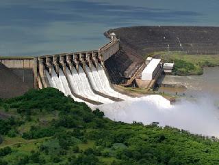 usina hidreletrica de sao simao go localizada no rio paranaiba. exemplo de gch