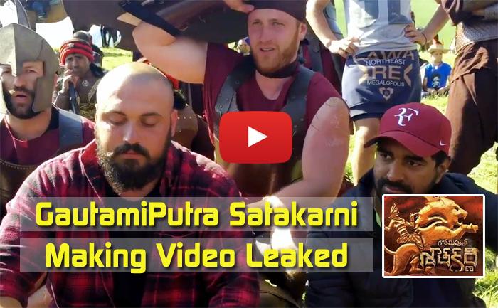 GautamiPutra Satakarni Movie Making Video Leaked
