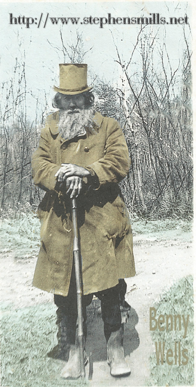 """picture of  Benjamin """"Benny"""" Wells was born in Norway, Maine on 12/2/1868  Died in Greenwood, Maine on 1/24-25/1945 son of   Thomas A. Wells born 1842 served in the Civil War, US Army  and Rebecca J. Herrick 1846-1903"""