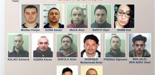 18 Albanian drug traffickers arrested in Italy under Alba Bianca