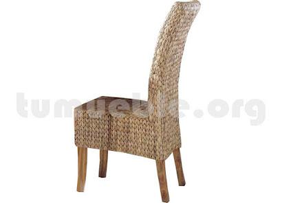 silla comedor en rattan natural j928