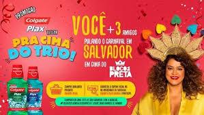 """Promoção """"Colgate Plax Te Leva Pra Cima Do Trio"""""""