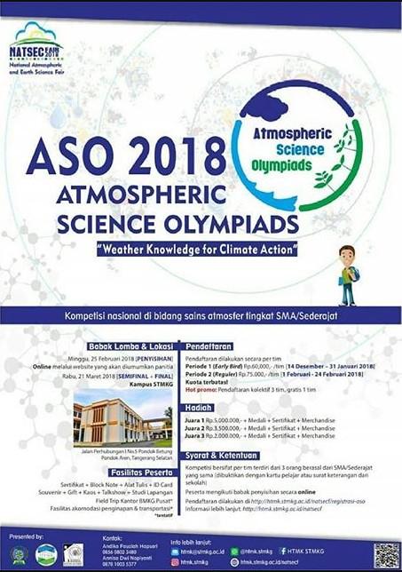 Olimpiade Atmospheric Science Olympiad (ASO) 2018 by STMKG
