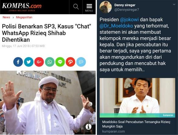 Polisi Hentikan Kasus Chat HRS, Warganet Tagih Janji Denny Siregar