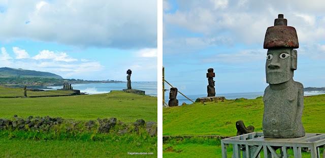 Moais na Ilha de Páscoa