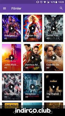 android film izleme uygulaması