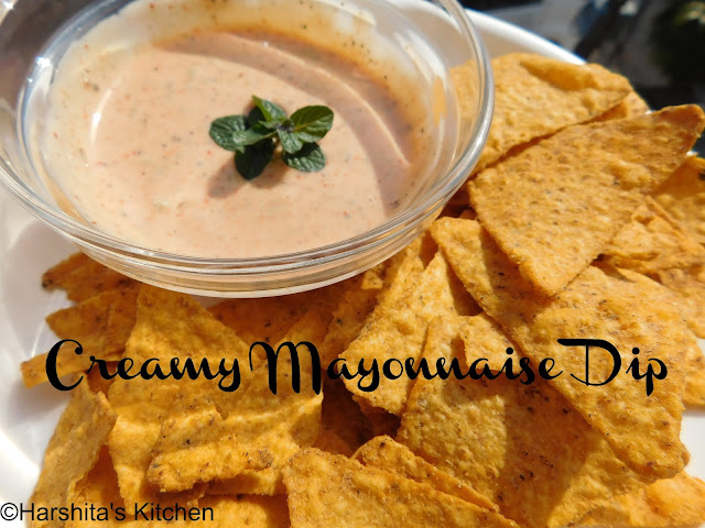 Creamy mayonnaise dip for nachos recipe