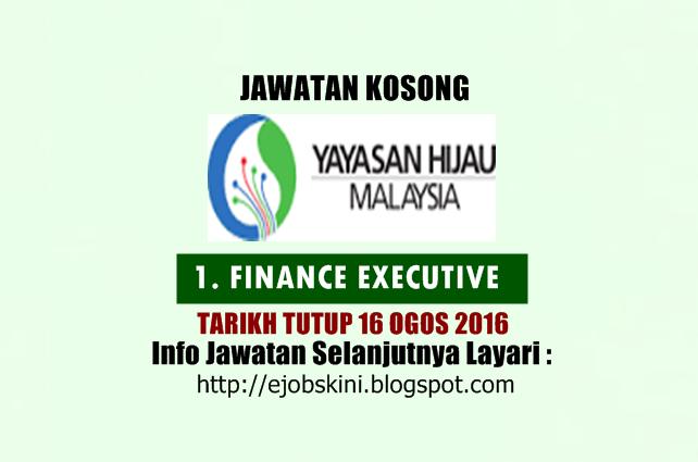 jawatan kosong di yayasan hijau malaysia ogos 2016