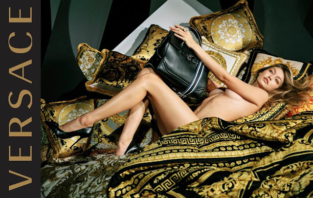 Gigi Hadid strips naked for new Versace Campaign