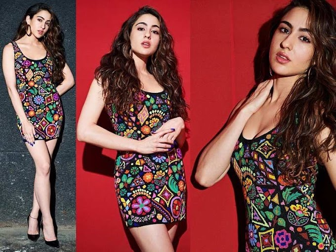 Sara Ali Khan adds a colourful twist to the monotonous little black dress and we can't get over it - see pics