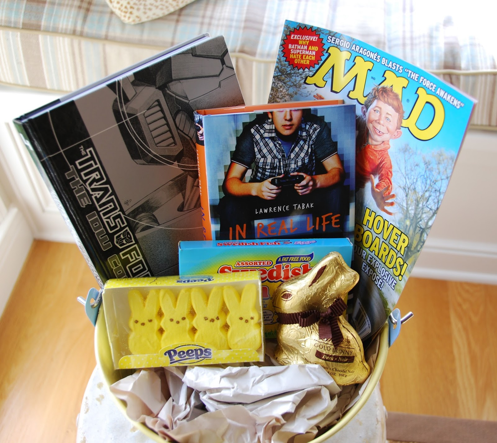 One great book easter book baskets basket for my 17 year old son negle Choice Image