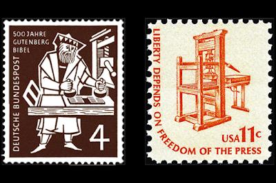 Sellos sobre Impresión de Sellos Postales
