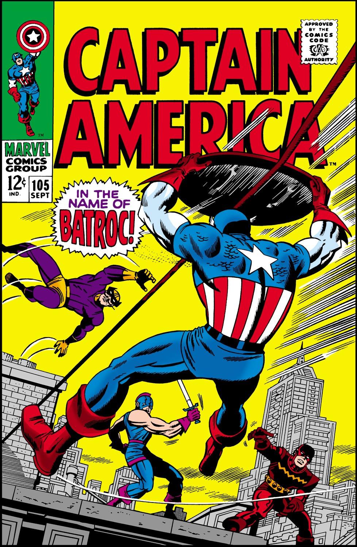 Read online Captain America (1968) comic -  Issue #105 - 1